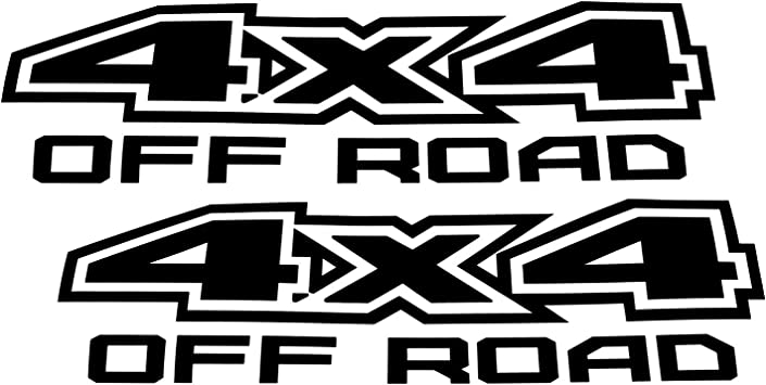 Gloss Finish White 4x4 Off-Road Vinyl Decal Sticker For Dodge Chevy GMC Ford Nissan Toyota Truck Bed iJDMTOY 2