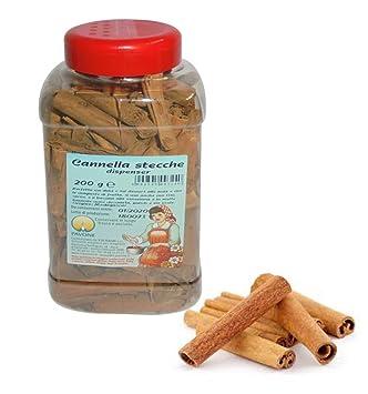 Gr 200 Canela de tacos de dispensador para postre Repostería y composte de frutas Cinnamon Sticks