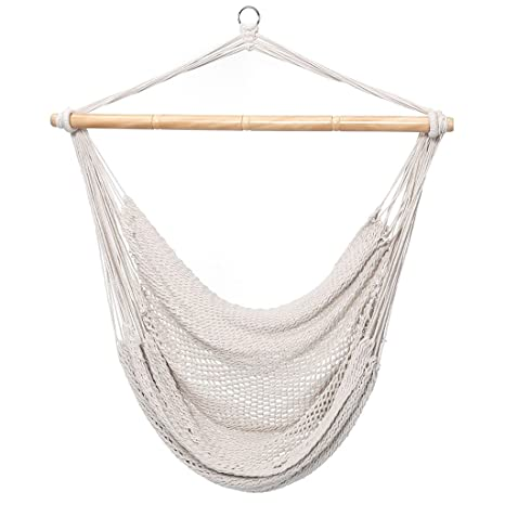 Finether Mesh Hammock Chair Swing, Netted Swing Chair Swing Seat Rope  Hanging Chair For Any