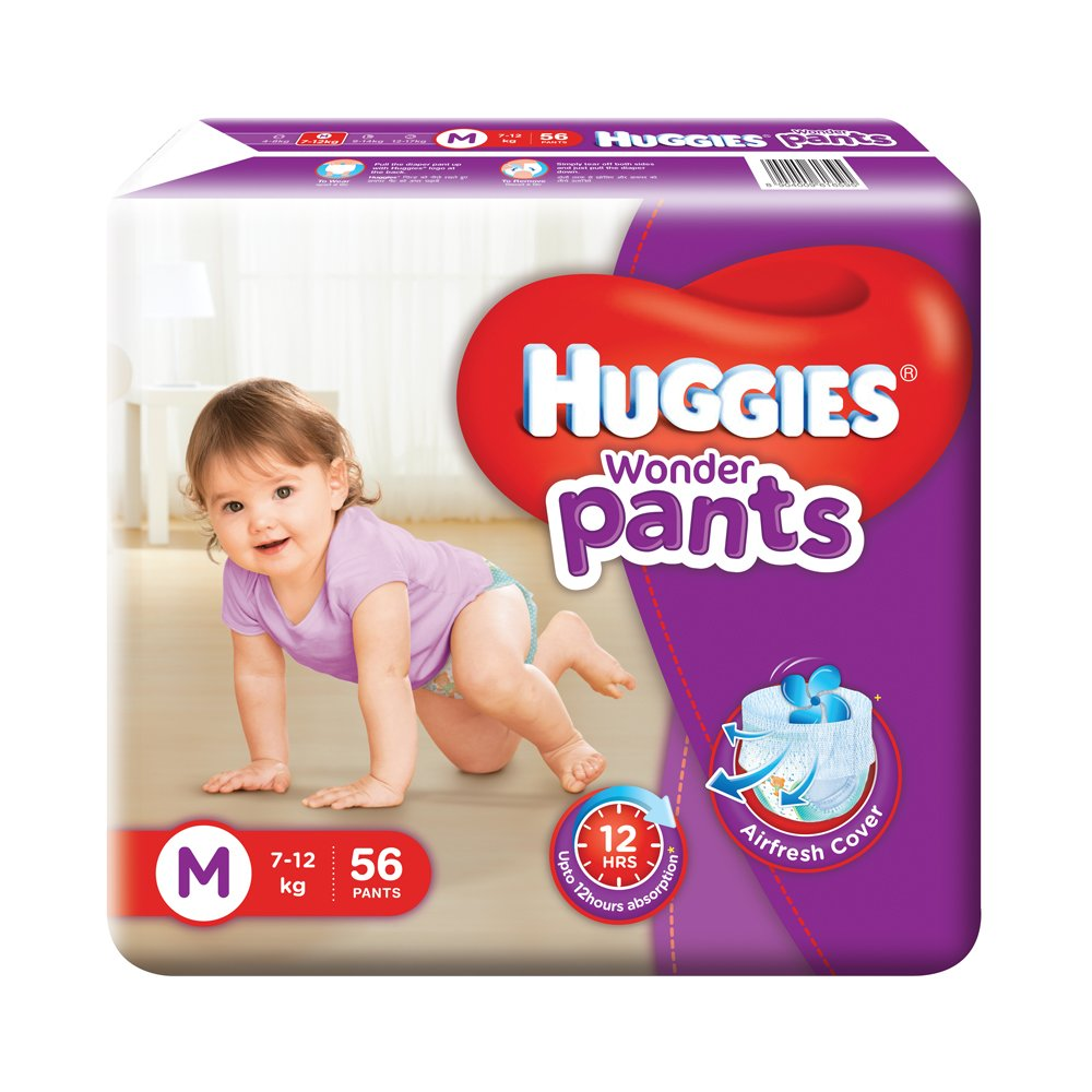 Huggies Wonder Pants Medium Size Diapers( 56 Count)