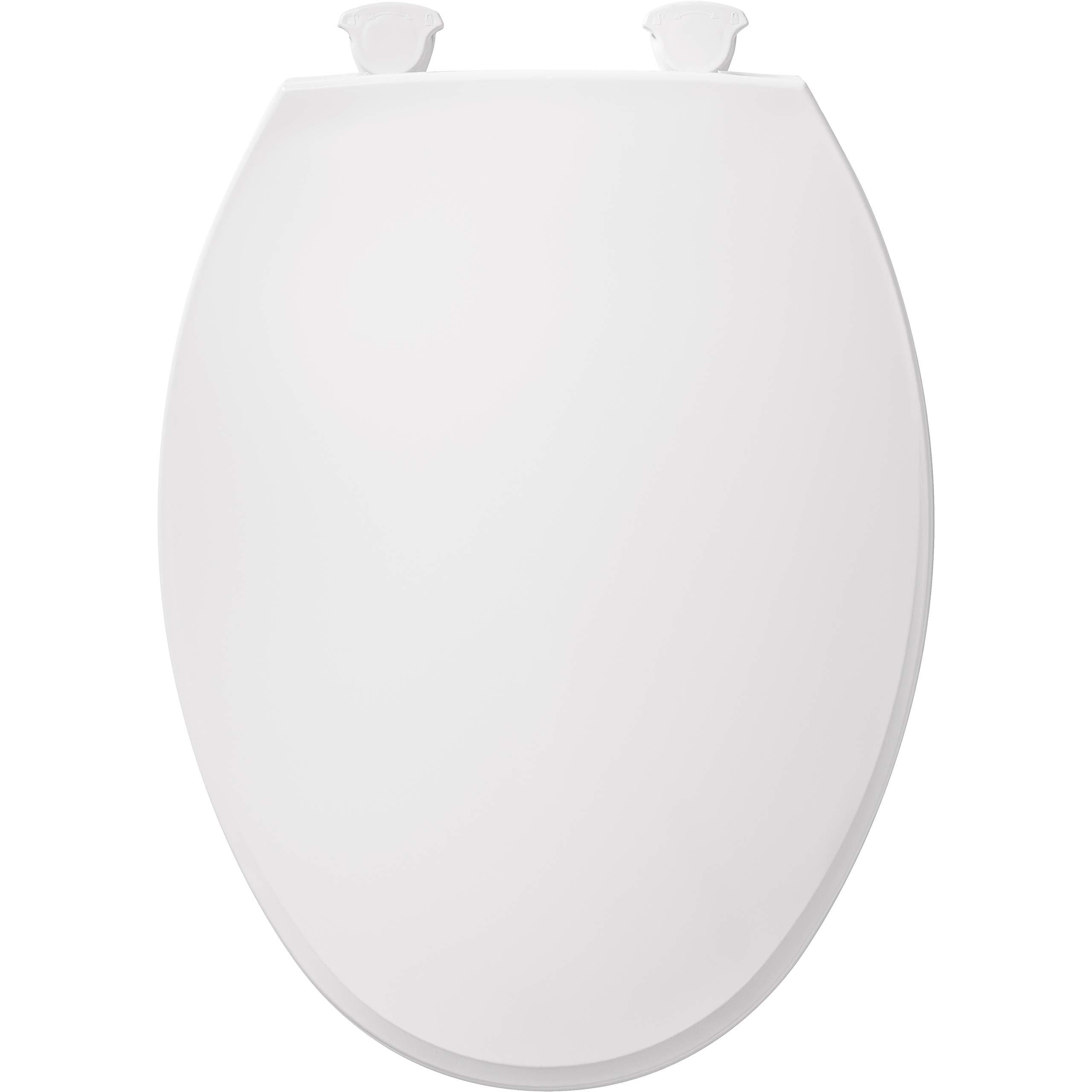 Bemis 1800EC 346 Plastic Elongated Toilet Seat with Easy Clean & Change Hinges Biscuit/Linen by Bemis (Image #1)