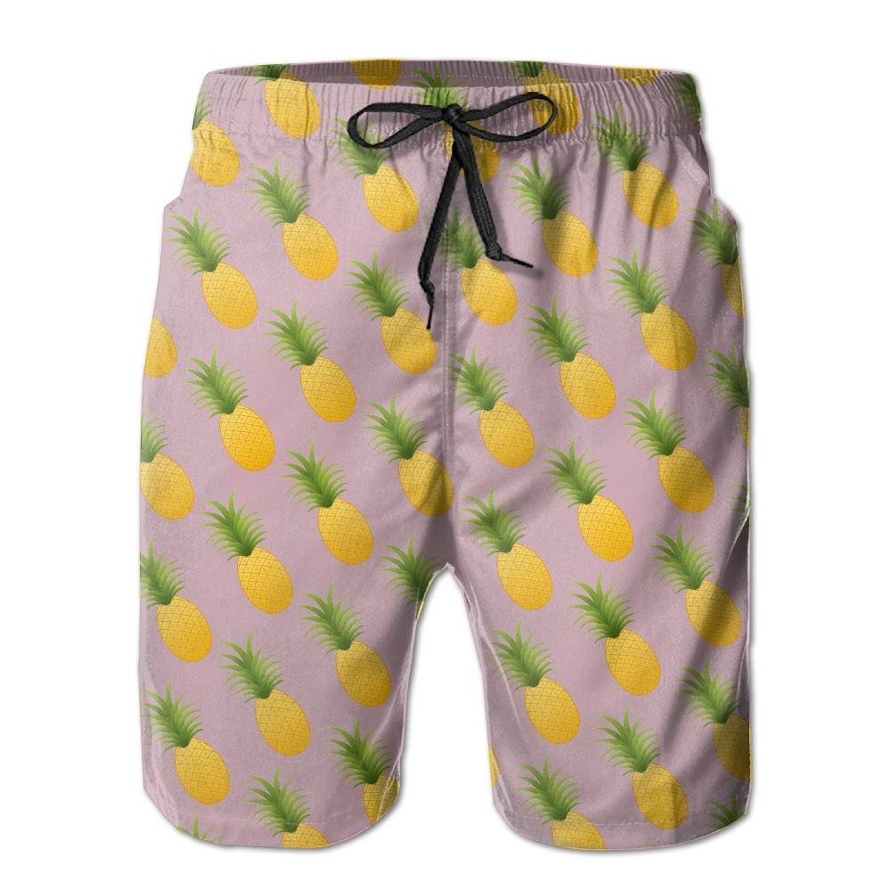 Men's Pineapple Quickly Drying Lightweight Fashion Board Shorts Swim Trunks XXL