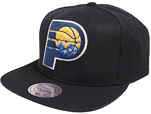 bfbb29a6516 Image Unavailable. Image not available for. Color  Mitchell   Ness NBA  Indiana Pacers 348VZ Easy Three Digital XL Snapback ...