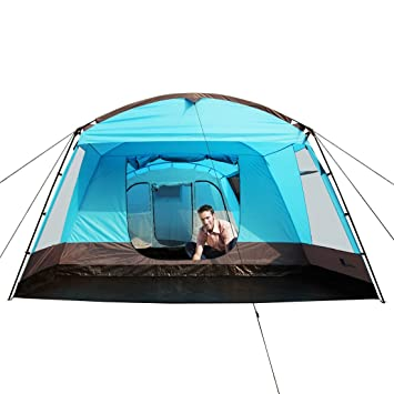 Peaktop Large Family tent 6-9 Person Tunnel C&ing Tent 4000MM Waterproof with Fully Sewn  sc 1 st  Amazon UK & Peaktop Large Family tent 6-9 Person Tunnel Camping Tent 4000MM ...