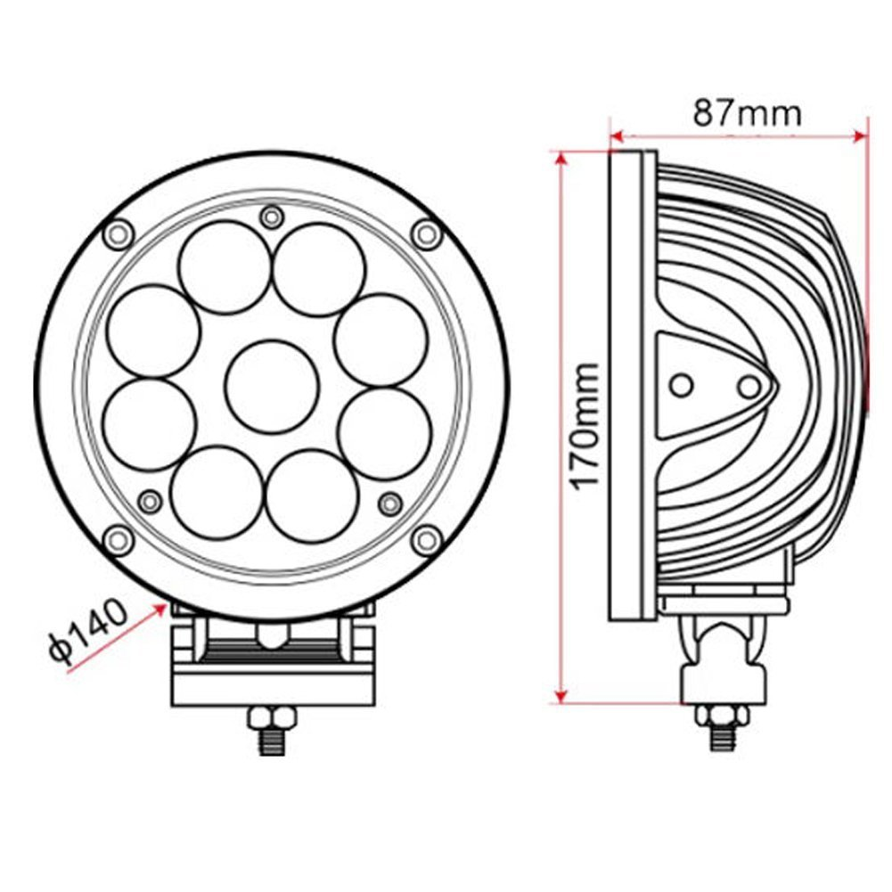 Amazon Ledholyt 2pcs 55inch 45w Cree Led Round Work Spotlight Driving Car Light 4000 Lumen For Offroad Ute Suv ATV Truck Boat Fishing Excavator: Mictuning Light Bar Wiring Diagram At Chusao.net