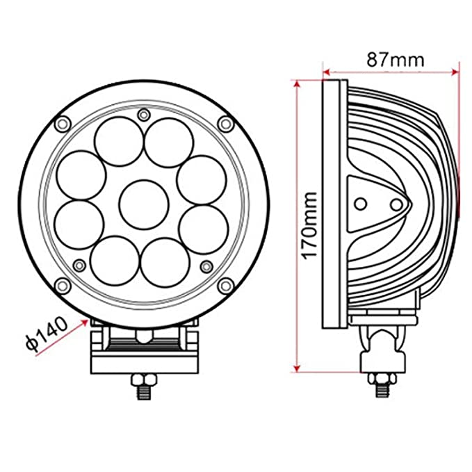 Amazon Com Ledholyt 2pcs 5 5inch 45w Cree Led Round Work Spotlight