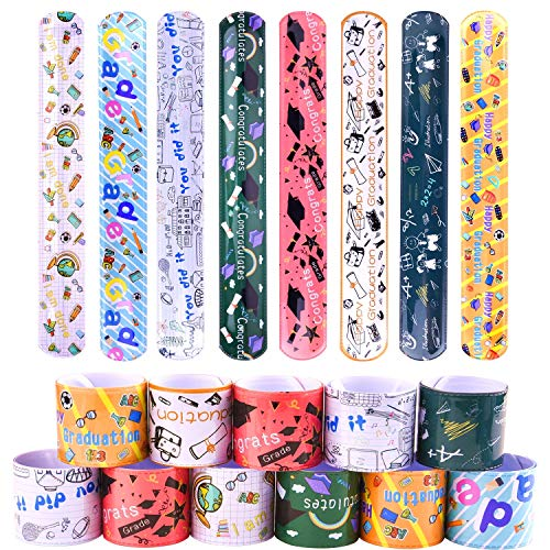 TUPARKA 40 Pcs Graduation Bracelets,Graduation Slap Bands Bracelets for Pre Primary Graduation Party Favors Supplies,Kindergarten Graduation Bracelet for Kids,Graduation Party Game Prize -