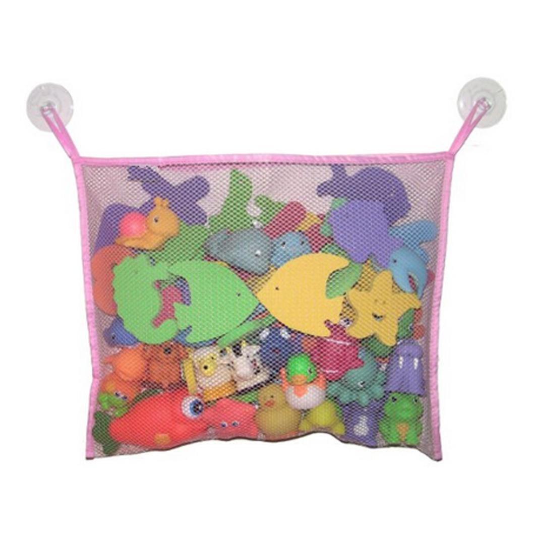 Omiky/® Baby Badewanne Spielzeug Mesh Net Aufbewahrungstasche Organizer Halter Bad Organizer Blau