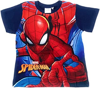 Camiseta Spiderman Manga Corta - Camiseta Spiderman Marvel Algodón (4 años): Amazon.es: Ropa y accesorios