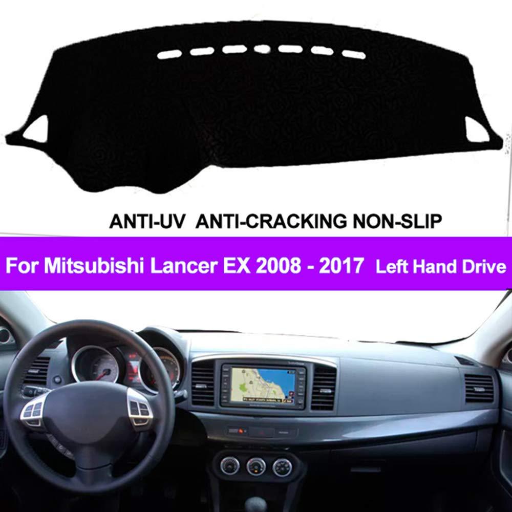 Oneuda Flannel Dashmat Dashboard Cover Dash Pad Car Mat Carpet Sun Shade for/Mitsubishi Lancer EX 2008 2009 2010 2011 2012-2015 2016 2017 Anti-Slip Dash Board Cover Auto Accessories