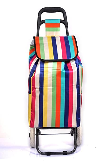 6a6b0a2d7a4 PAffy Foldable Shopping Trolley Bag (Rainbow): Amazon.in: Bags, Wallets &  Luggage