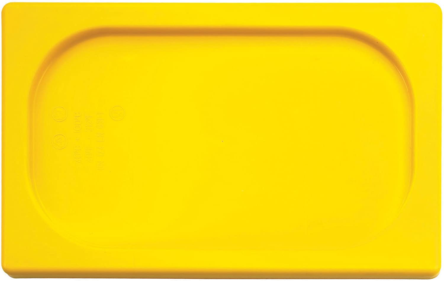 Paderno World Cuisine 7 inches by 4 3/8 inches Yellow Polypropylene Hotel Food Pan Lid - 1/9