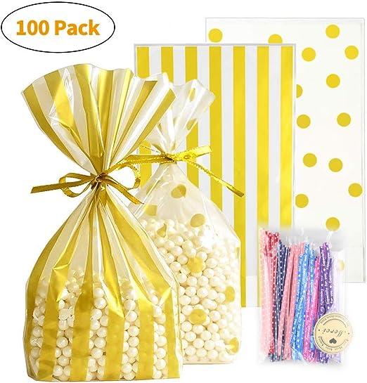 cFone bolsas de dulces con corbatas, bolsas para galletas ...