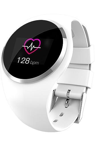 Rastreador de actividad física. Reloj inteligente con Bluetooth para hombres y mujeres, monitor de presión arterial, rastreador de actividad.