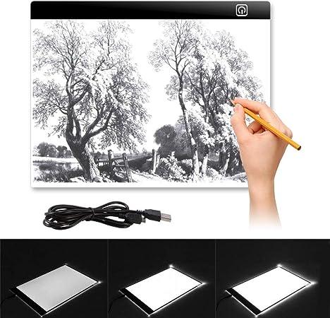 A3 A4 LED Ultra Slim Art Craft Copy Draw Tracing Tattoo Light Box Pad Board 2019