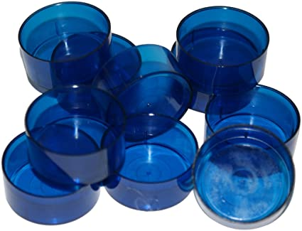 Azul vela moldes. Más de policarbonato TL15 pre-encerada mechas. Para hacer velas