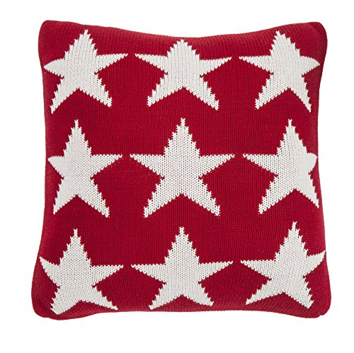 New Haven – Pure Cotton Knitted Pillow, White Sailor Stars