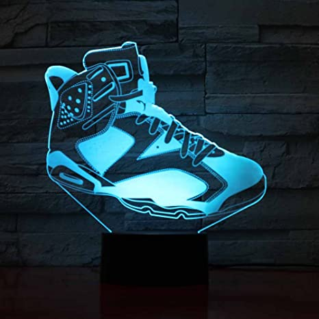 3D Shoes Modelling Night Light Touch Table Desk Optical
