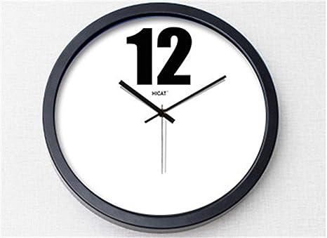 """GYNMR Reloj Creativo Nórdico Moderno Creativo Simple 12"""" Reloj de Pared Digital Mudo Regalo Decorativo"""