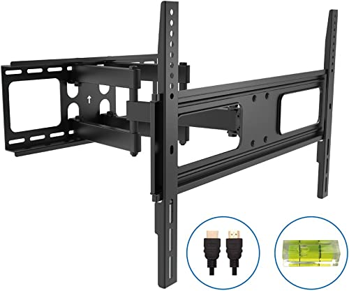 ProHT LCD LED Full Motion TV Wall Mount Combo holds TV size from 37 to 80 with 6FT HDMI cable and bubble level