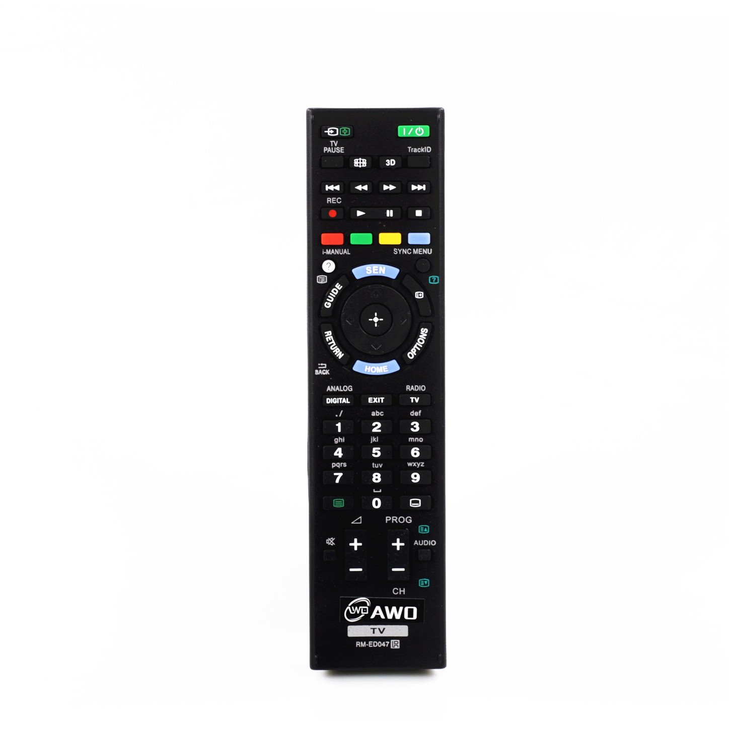 AWO RM-ED047 New Replacement TV Remote Control Fit For Bravia SONY KDL-22EX553 KDL-26EX553 KDL-32EX653 KDL-40EX650 KDL-40EX653 KDL-40EX655 KDL-46EX650 KDL-46EX653 KDL-46EX655