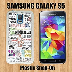 Indie Hipster Band Collage Custom made Case/Cover/skin FOR Samsung Galaxy S5 -White- Plastic Snap On Case ( Ship From CA) by runtopwell