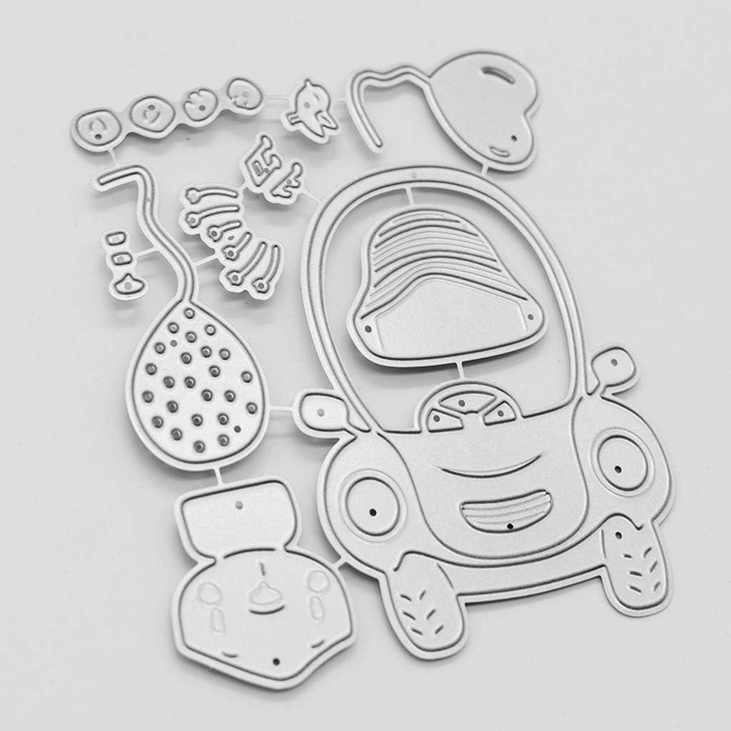 Driving Bear Metal Die Cuts Cutting Dies Cut Stencils for DIY Scrapbooking Photo Album Decorative Embossing Paper Dies for Card Making Template