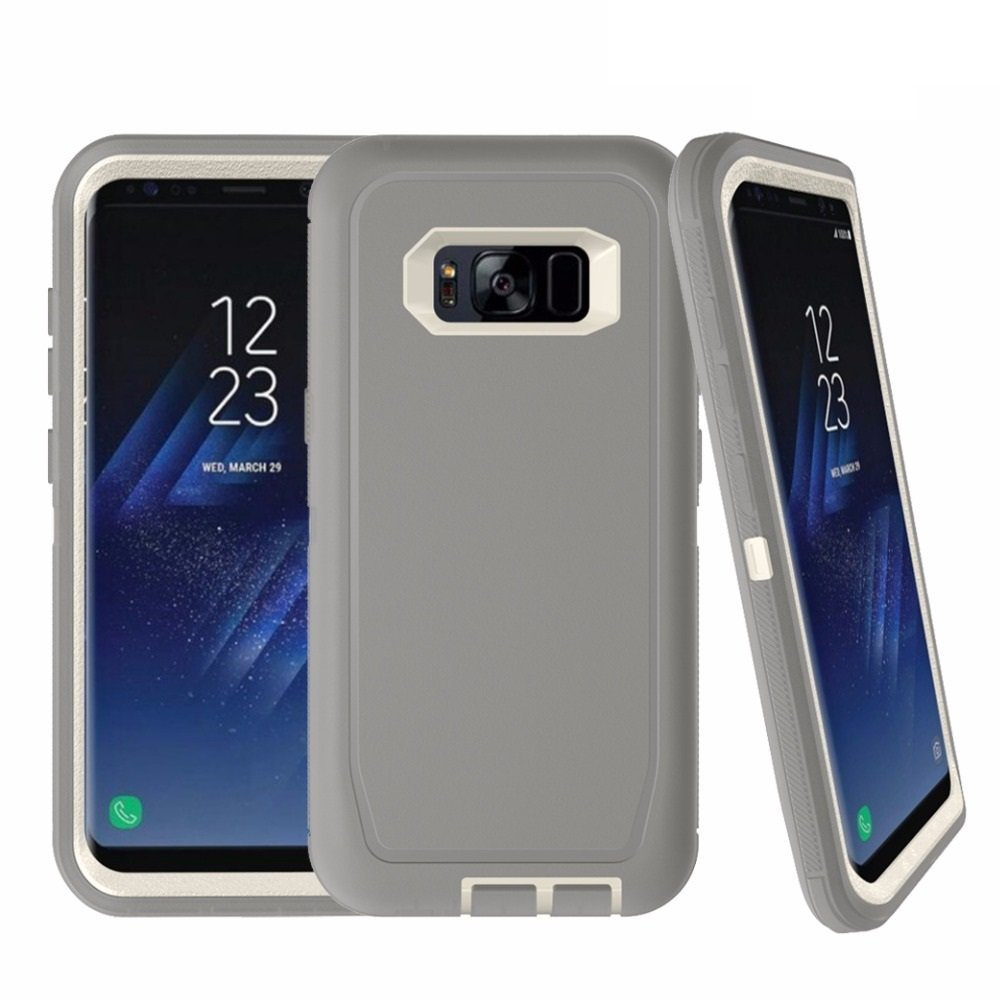 TekForce DEFENDER Professional Case for Samsung Galaxy S8 Plus - Stylish yet Rugged Worry-Free Case (GREY)