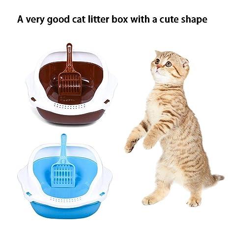 Caja de Arena para Gatos Inodoro semicerrado con Pala para ...