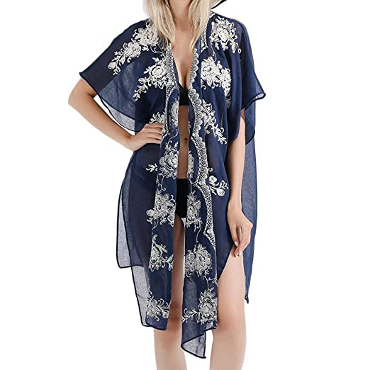 Basic Jackets 2019 Women Summer New Solid Sheer Lace Bikini Cover-up Summer Cardigan Beach Style High Quality Goods Jackets & Coats