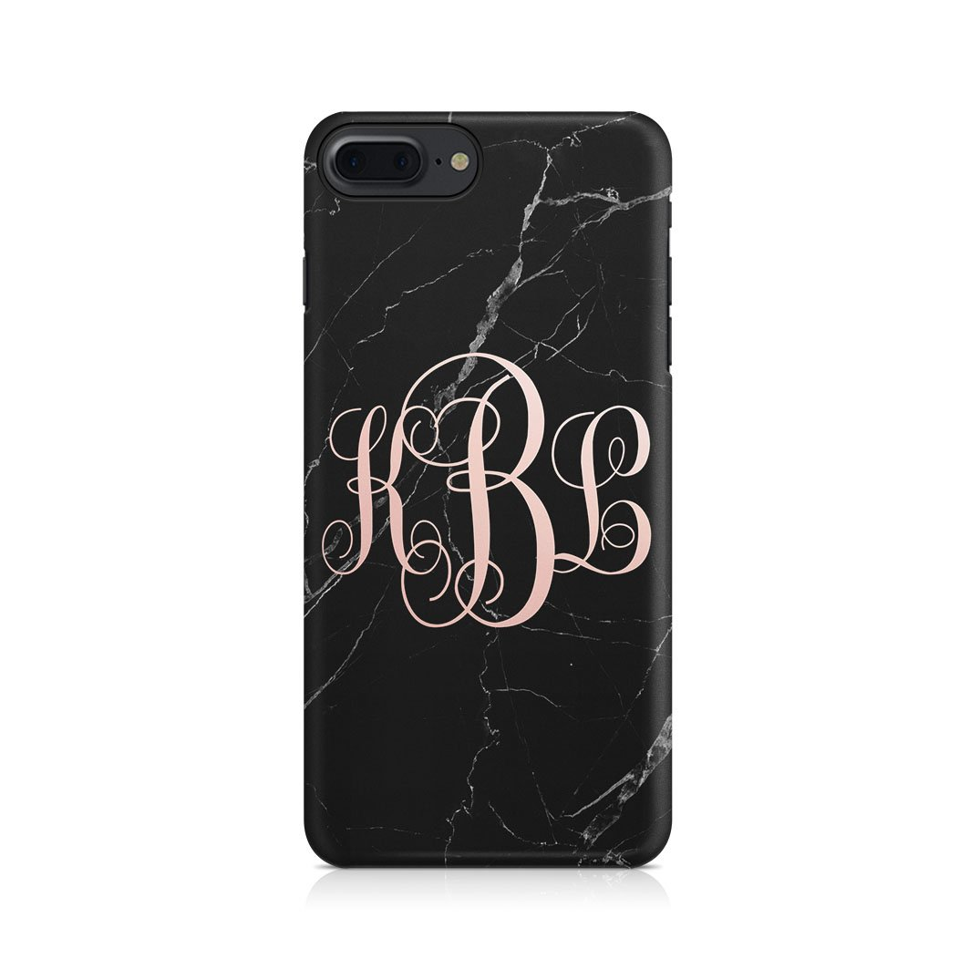 online store b336a 30d04 Amazon.com: Personalised Custom Monogram Gifts Initial Black Marble ...
