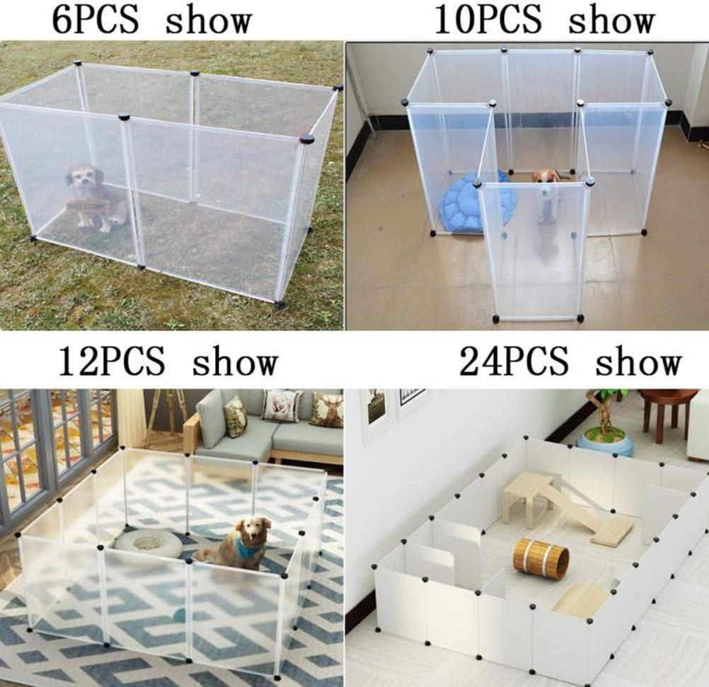 POPETPOP - Jaula de plástico Transparente para Perros, 10 Unidades ...