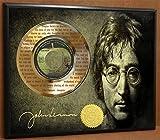 JOHN LENNON IMAGINE LTD EDITION POSTER ART GOLD RECORD DISPLAY LASER ETCHED W/ LYRICS