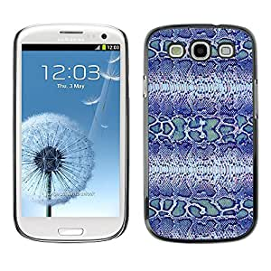 KOKO CASE / Samsung Galaxy S3 I9300 / blue snake pattern fabric textile design / Slim Black Plastic Case Cover Shell Armor