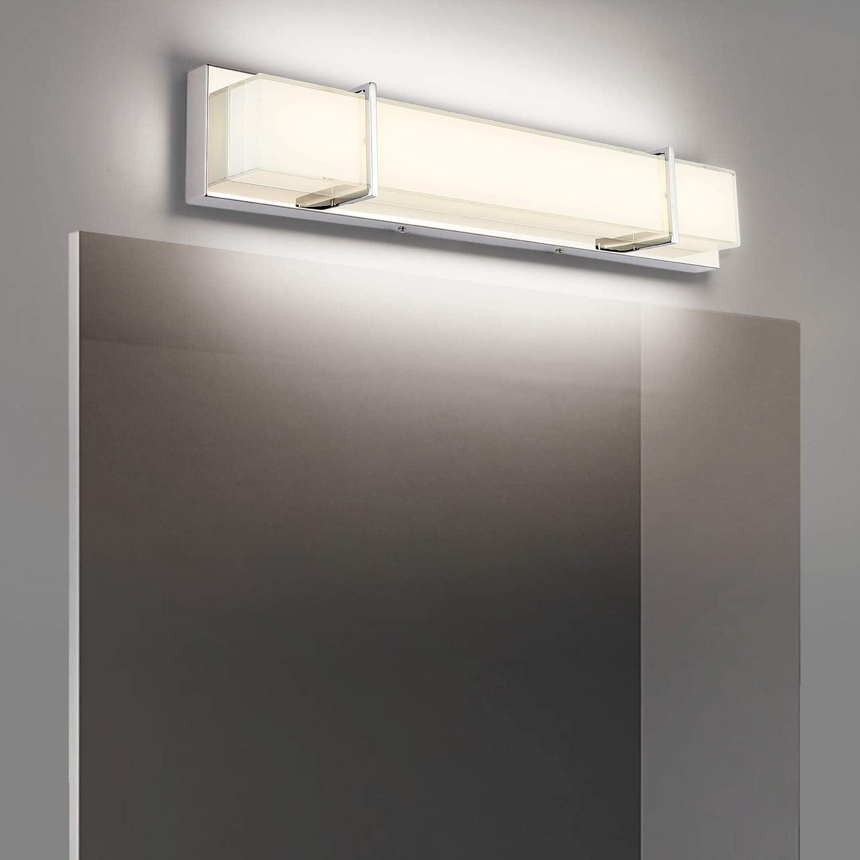 7degobii Vanity Lights For Bathroom Modern Bathroom Lighting Fixtures 25 2 Led 18w 1600lm Amazon Com