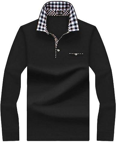 Hombre Polos Camisa Polo Para Hombre Camisa De Manga Larga Para Hombre Camisas Solidas Polos Masculina Algodon Casual Rayas Tallas Grandes Tops Camisetas Amazon Es Ropa Y Accesorios