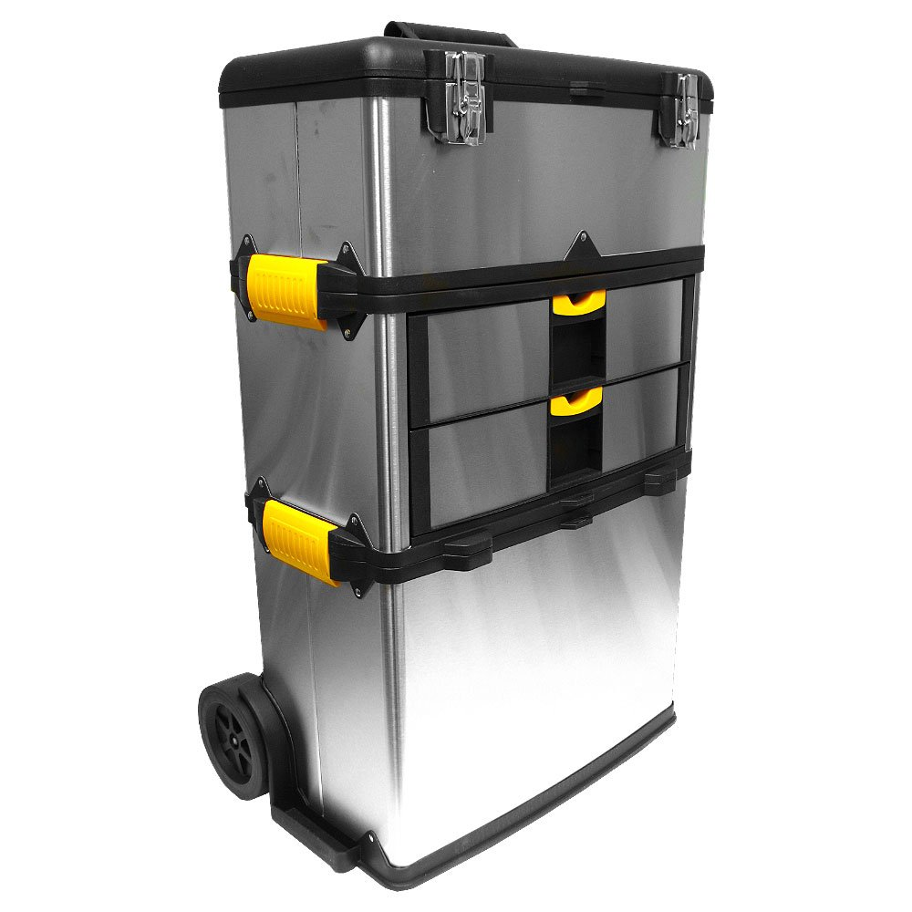 Superieur Amazon.com: Stalwart Mobile 3 Part Tool Box Stainless Steel: Home  Improvement