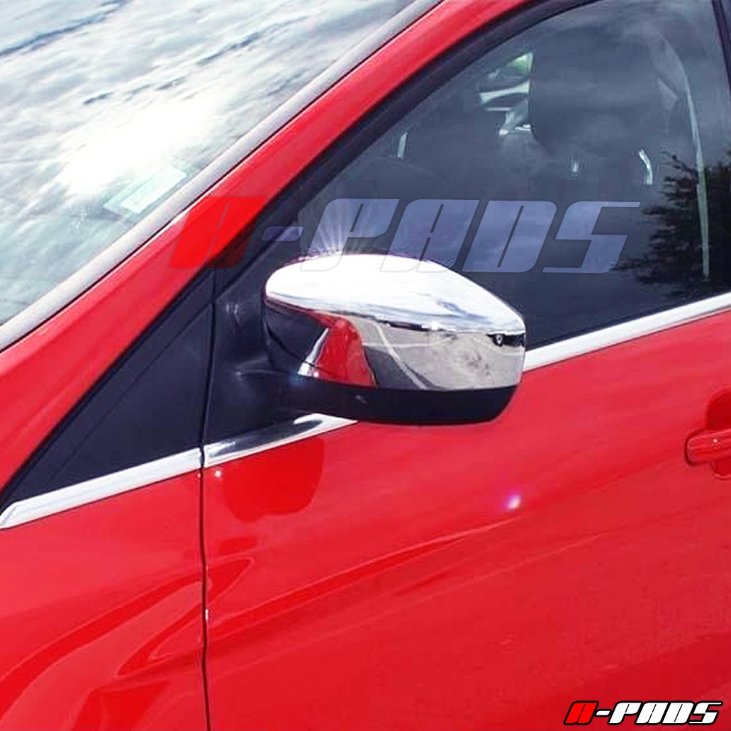 WITHOUT Signal Fit A-PADS Chrome Mirror Covers for Ford FOCUS 2012-16 /& ESCAPE 2013-16