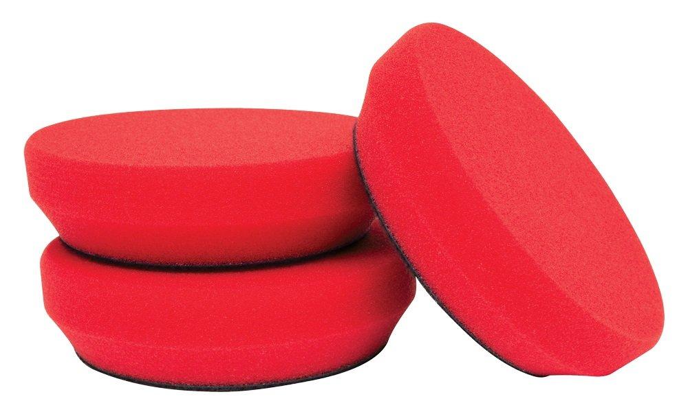 Griot's Garage 11281 4'' Red Foam Wax Pads (Set of 3)
