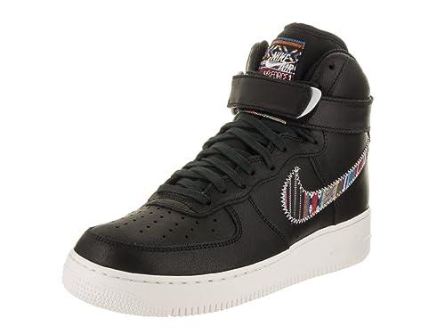 0f72f444b577d Nike Men s Air force 1 High  07 Lv8 Black Black Summit White Basketball Shoe