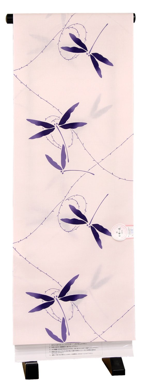 日本製 綿100% 浴衣生地 反物 捺染 「トンボ」 珊瑚色 EN740E1 B01G339LM0