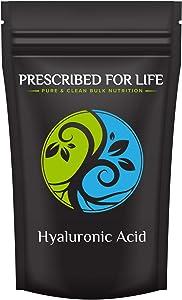 Prescribed for Life Hyaluronic Acid - Food Grade Sodium Hyaluronate (HA) Powder - Medium Molecular Weight 1.15 mil Dal, 2 oz (57 g)
