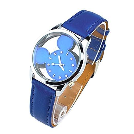 Niña Secret Paradise para mujer barato regalo Carcasa niños relojes de cuarzo Mickey Mouse azul