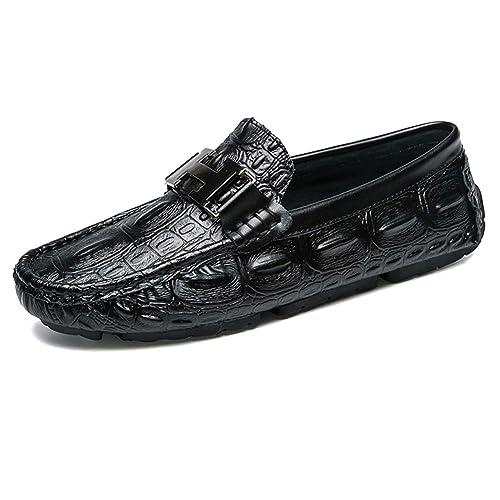 NXY De los Hombres Nuevo Casual Cuero Mocasín Pisos Ponerse Conducción Mocasines Zapatos del Barco: Amazon.es: Zapatos y complementos
