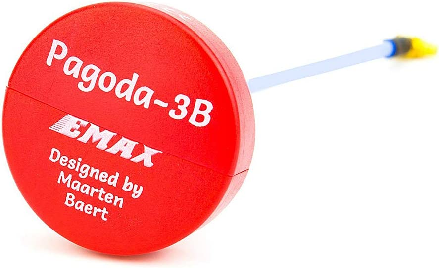 Goolsky EMAX Pagoda-3B RHCP SMA 80mm 5.8G Transmisión FPV Antena VTX para FPV RC Racing Drone Quadcopter