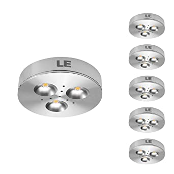 le 5 pack led under cabinet lighting brightest puck lights 12v dc under counter cabinet lighting puck light