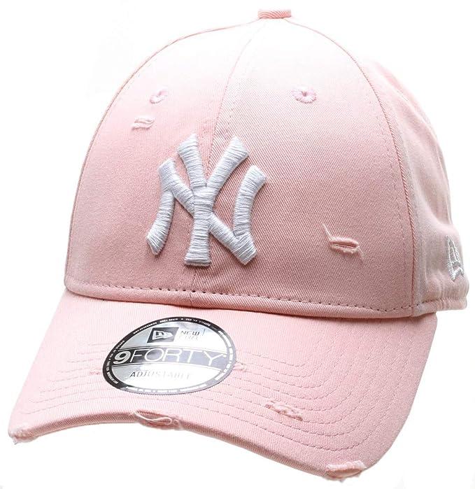 2cea5a34055 New Era New York Yankees Distressed Seasonal 9FORTY Cap - Pink ...