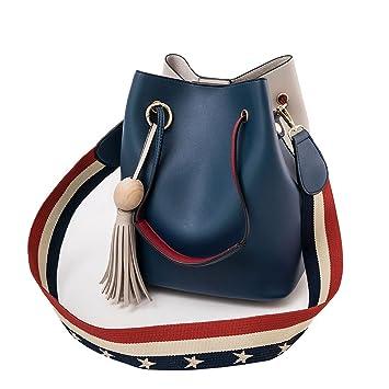 DEERWORD Mujer Shoppers y bolsos de hombro Bolsos bandolera Carteras de mano y clutches Azul: Amazon.es: Zapatos y complementos