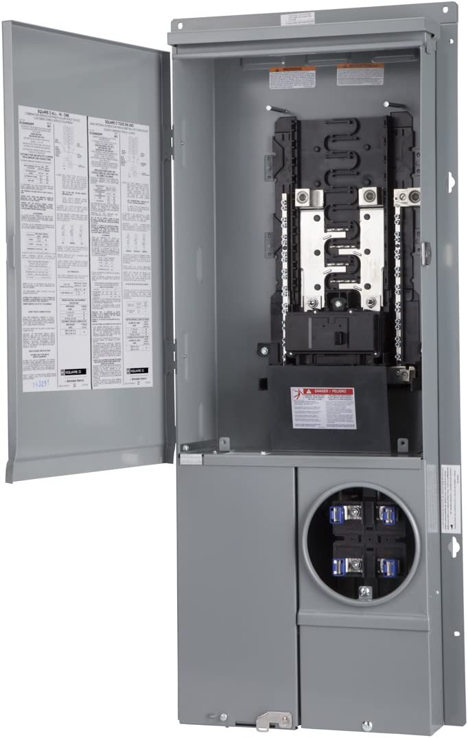 Square-D 200-Amp 8-Space 16-Circuit Outdoor Main-Breaker Box Panel Load-Center