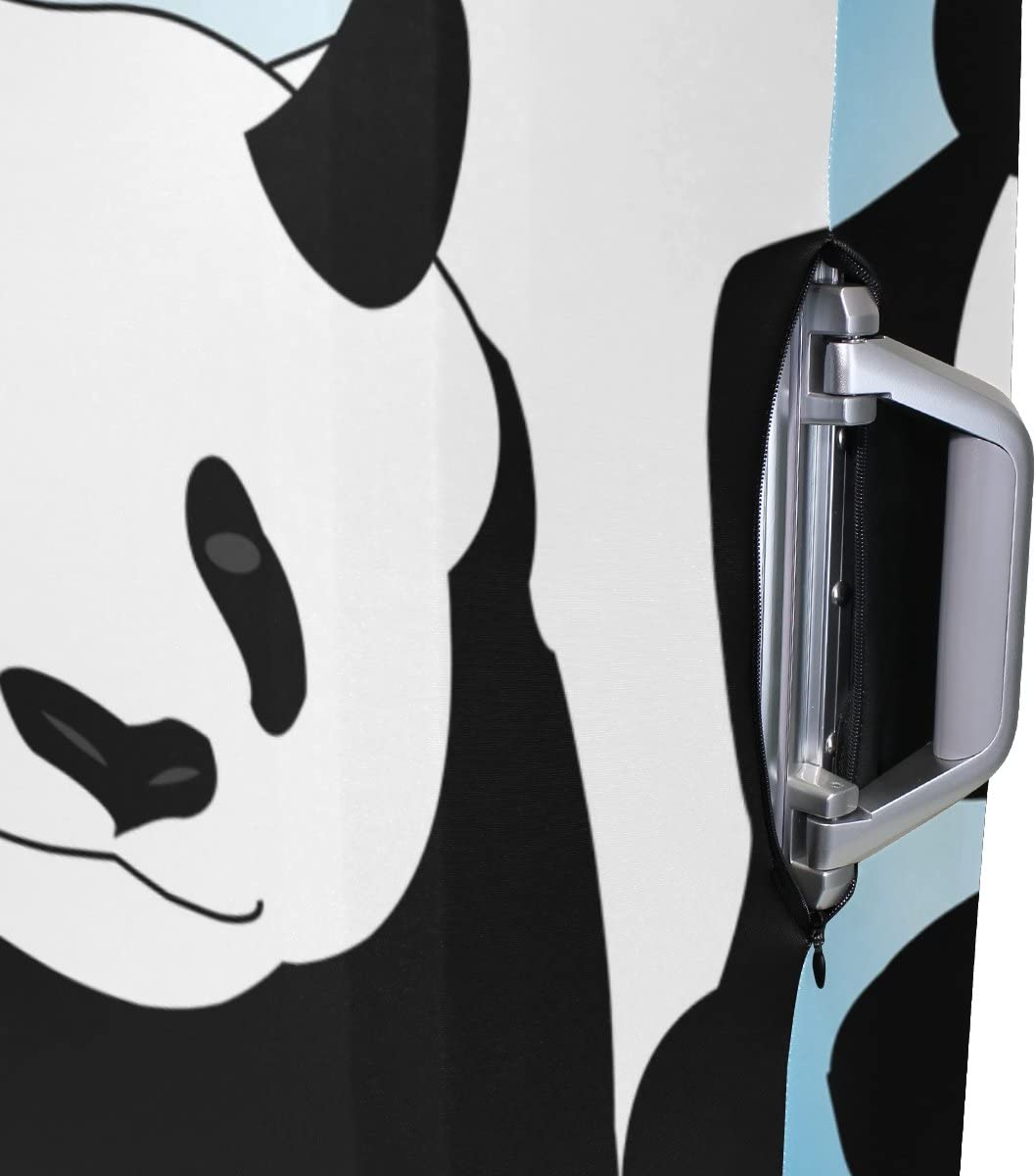 LEISISI Very Cute Panda Luggage Cover Elastic Protector Fits XL 29-32 in Suitcase
